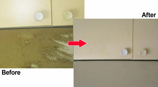 換気扇フード回りの掃除|ビフォーアフター