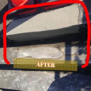 修復工事が終わったコンクリート