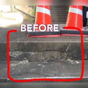 コンクリートの修復工事が必要です