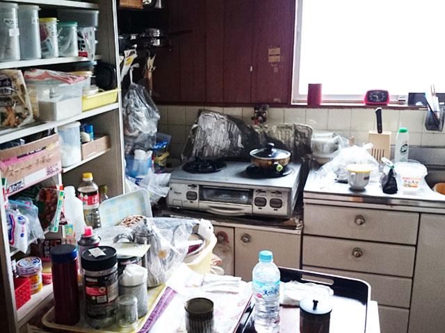 台所の片付け前