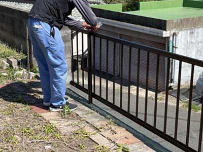 フェンスの完成工事2